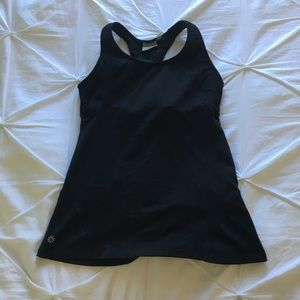 Athleta Womens Black Racerback Tank Top w/ Pockets